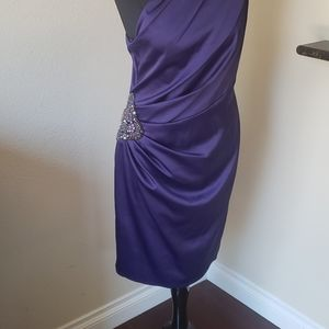 Eliza J Dresses - Eliza J Purple Cocktail Dress Size 12 One Shoulder